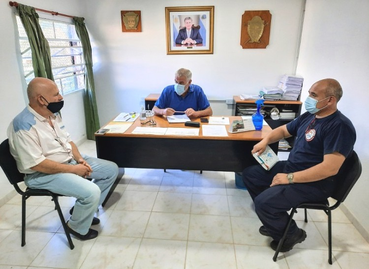 Intendente Pavoni recibió a autoridades de Bomberos Voluntarios